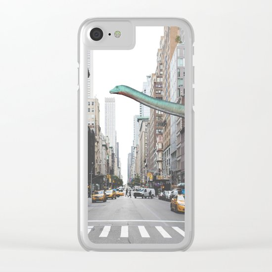 Diplodocus in Chicago Clear iPhone Case
