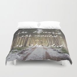 She believed Duvet Cover