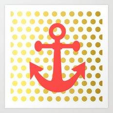 Nautical-Pink Art Print