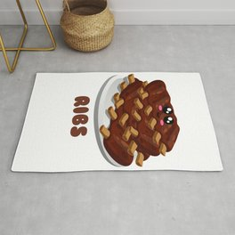 Ribs Fix Everything Funny Barbecue Pun Rug