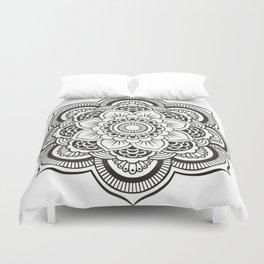 Mandala White & Black Duvet Cover