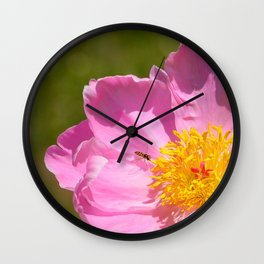 The Peony and The Bee by Teresa Thompson Wall Clock