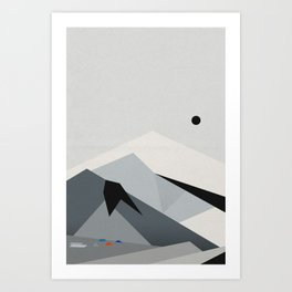 View From Skógafoss Art Print