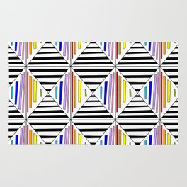 symetric tartan and gingham 30 -vichy, gingham,strip,square,geometric, sober,tartan Rug
