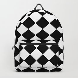 Contemporary Black & White Gingham Pattern - Mix and Match Backpack