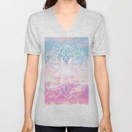 Star Mandala Unicorn Pastel Clouds #3 #decor #art #society6 Unisex V-Neck