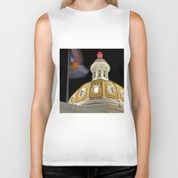 denver Biker Tanks featuring Denver Capitol  by Andrew C. Kurcan