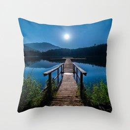 Bright Night Sky at British Columbia Throw Pillow