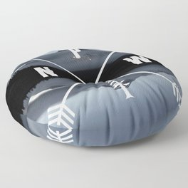 PNW Pacific Northwest Compass - Mt Hood Adventure Floor Pillow