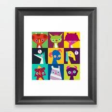 Thumbnail Monsters Framed Art Print