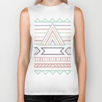 pyramid Biker Tanks featuring Pyramid  by elm the person