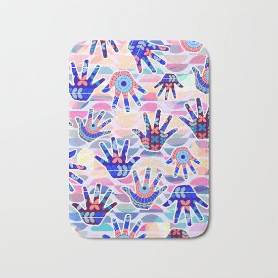 Colorful hands II Bath Mat