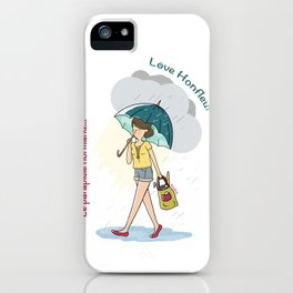 Love Honfleur-Le parapluie normand iPhone Case
