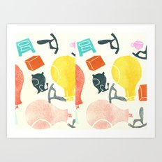 Funny stamps Art Print