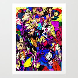 White Knuckle Art Print