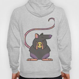 Greedy Rat Illustration Hoody