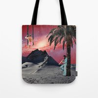 chill Tote Bags featuring Chill by Liall Linz