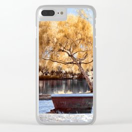 Autumn Colors Bench Clear iPhone Case
