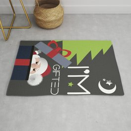 Santa Claus Says I'm Gifted Human Being Rug