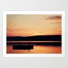 Dock at Dawn Art Print