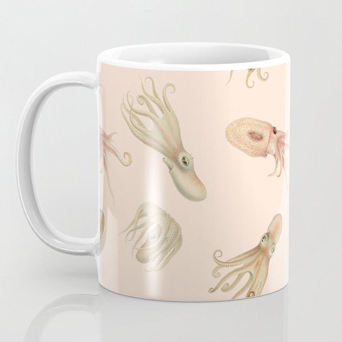 Cephalopods on Blush 2 Coffee Mug