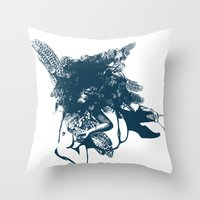 book cover Throw Pillows featuring book cover by EKSLIBRIS/ Jelena Lasan