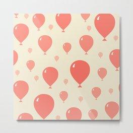 Red Balloons pattern Metal Print