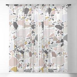 Terrazzo Pattern II. Sheer Curtain