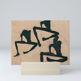 Egon Schiele - Composition with Three Male Nudes (1910) Mini Art Print