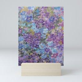Garden Glory ..in blue and purple Mini Art Print