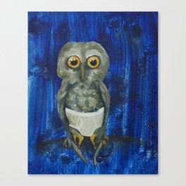 Owl in Underpants Canvas Print