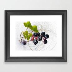 Bramble Swirl. Framed Art Print