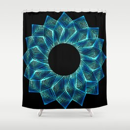 Inverted Threaded Lotus Shower Curtain