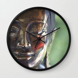 Buddha with a blush Wall Clock