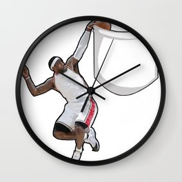 King James dunking in a pocket Wall Clock