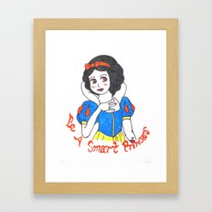 Girls' Fantasy - Snow White's dream Framed Art Print