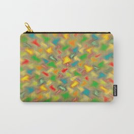 Warm Brush Strokes Carry-All Pouch