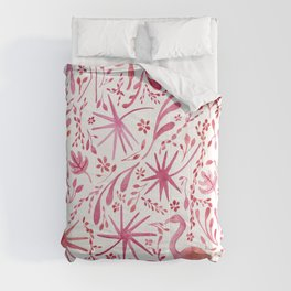Flamingos at the Beach Comforters