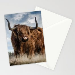 Bull Landscpe nature Stationery Cards