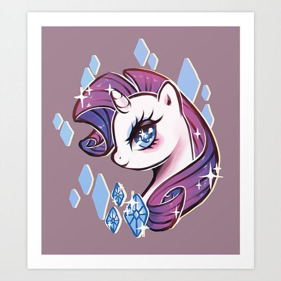 My Little Pony: Rarity Art Print