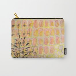 Pale Yellow Wood with soft dream trees Carry-All Pouch