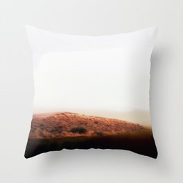 Abstract minimalist Desert road photography Throw Pillow