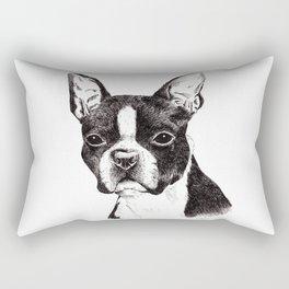 Boston Terrier Portrait Rectangular Pillow