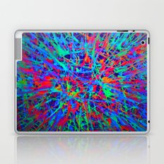 splatter in blacklight Laptop & iPad Skin