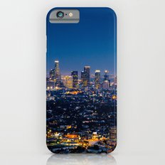 Los Angeles, California, I love LA Downtown Skyline, Golden lights, USA Sunset Blvd, Palms, Cali Map Slim Case iPhone 6