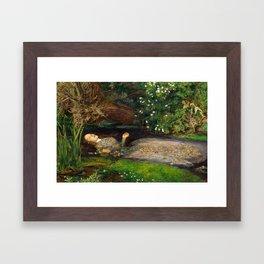 Ophelia Painting by John Everett Millais Framed Art Print