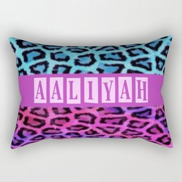 aaliyah leopard Rectangular Pillow