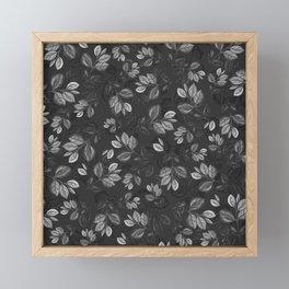 Black and White Leaves Pattern #1 Framed Mini Art Print