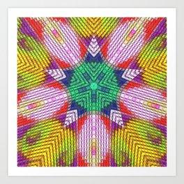 Golden Texture Art Print