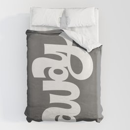 home/away ambigram Duvet Cover